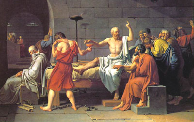 Socrates teaching before his execution; his crime was teaching students to think critically. Has that become a crime again?